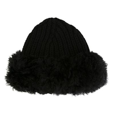 Fur Trim Ribbed Hat