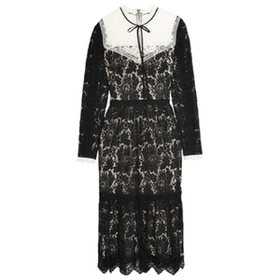 Georgie Guipure and Corded Lace Dress