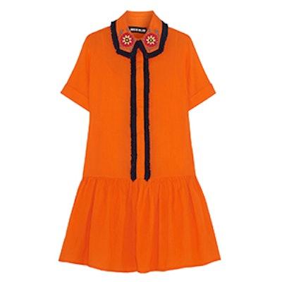 Embellished Cotton Mini Dress