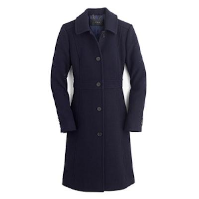 Navy Double-Cloth Lady Coat