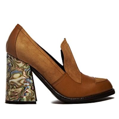 Shell Heeled Loafers