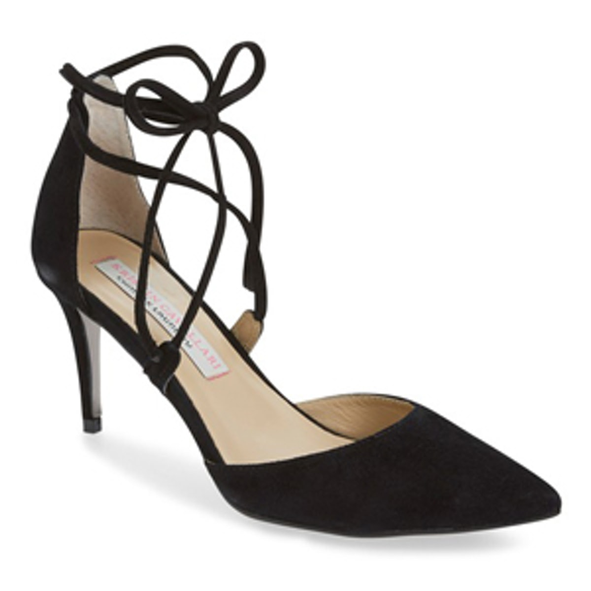 Opel Lace-Up Pointy Toe Pump