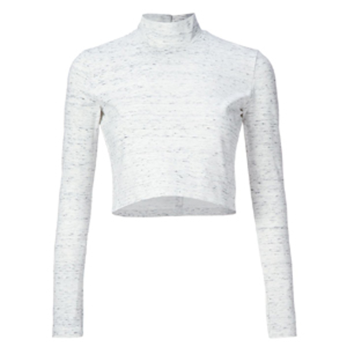 Cropped Turtleneck Top