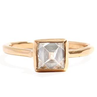 Gold & Diamond Pyramid Ring