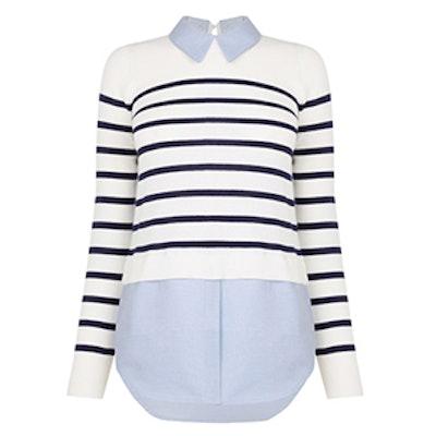 Stripe & Chambray Sweater