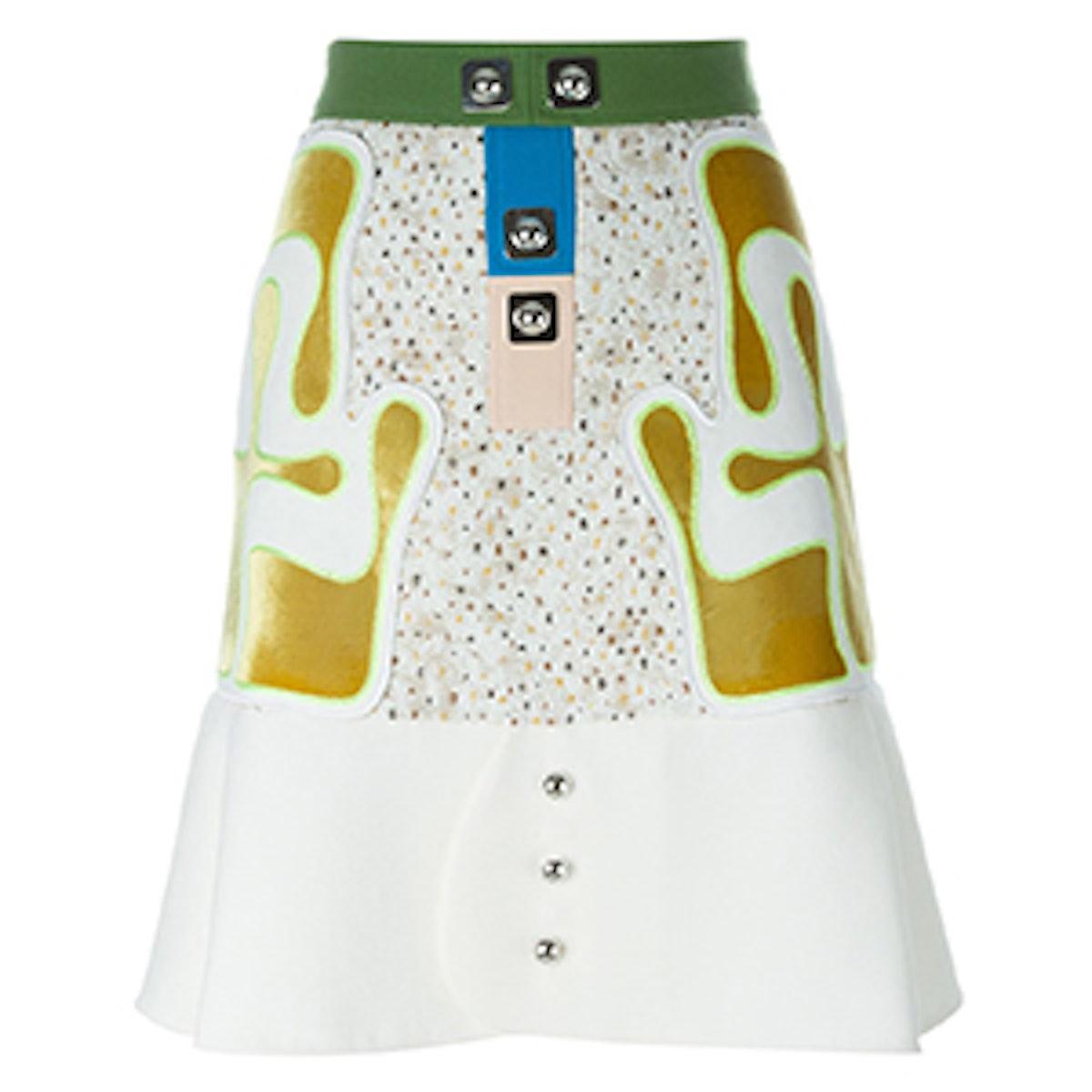 Panelled A-Line Skirt