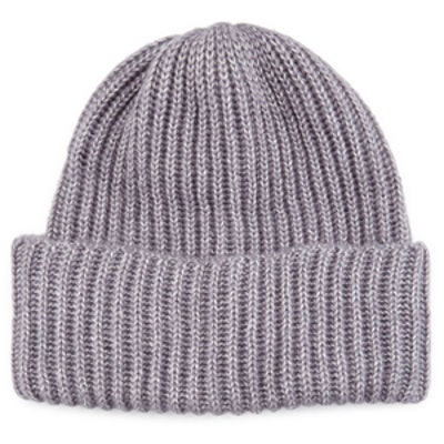Cuffed Rib-Knit Beanie Hat