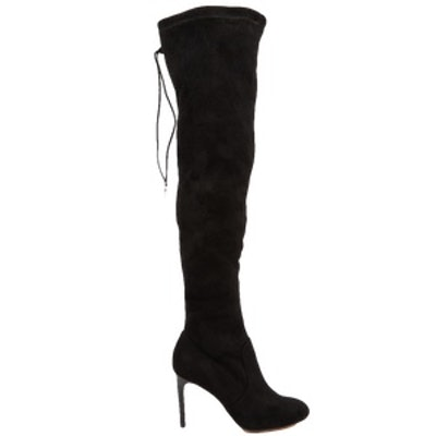 Over the Knee Boot With Tie Back