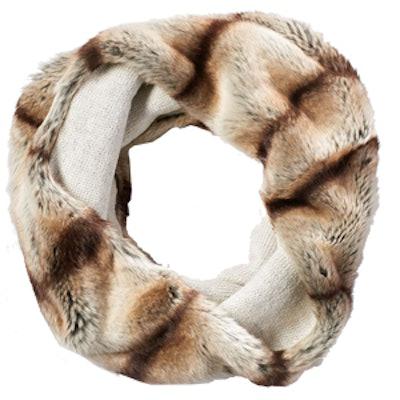Faux-Fur Reversible Cowl Scarf