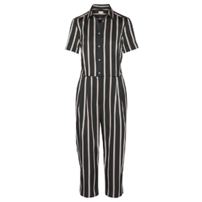 Pleated Striped Jumpsuit