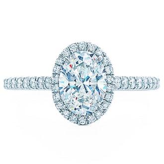 Platinum & Diamond Soleste Oval Ring