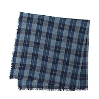 Cotton Linen Checked Stole