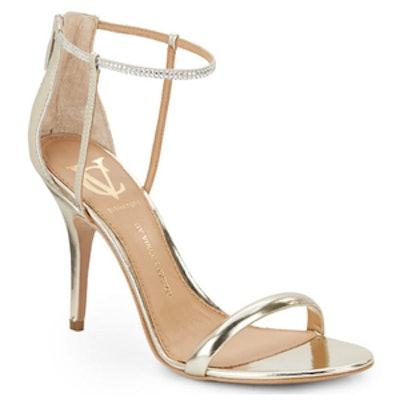 Ginny Metallic Embellished Sandals