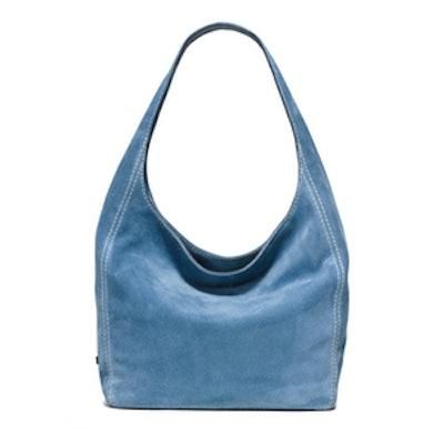 Lena Large Suede Shoulder Bag