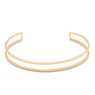 4K Gold Cage Cuff Bracelet