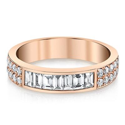 Rose Gold & Baguette Diamond Ring