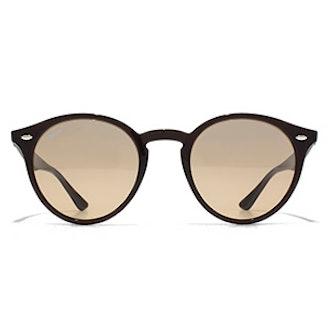 Black Keyhole Round Sunglasses