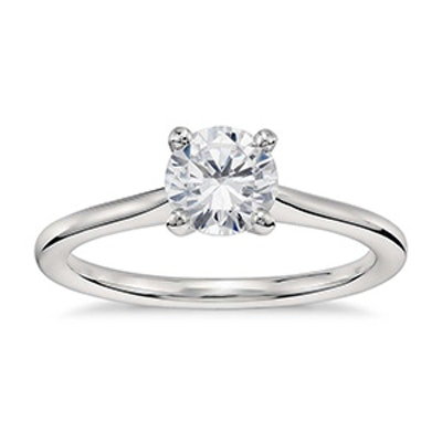 White Gold & Brilliant Cut Diamond Ring