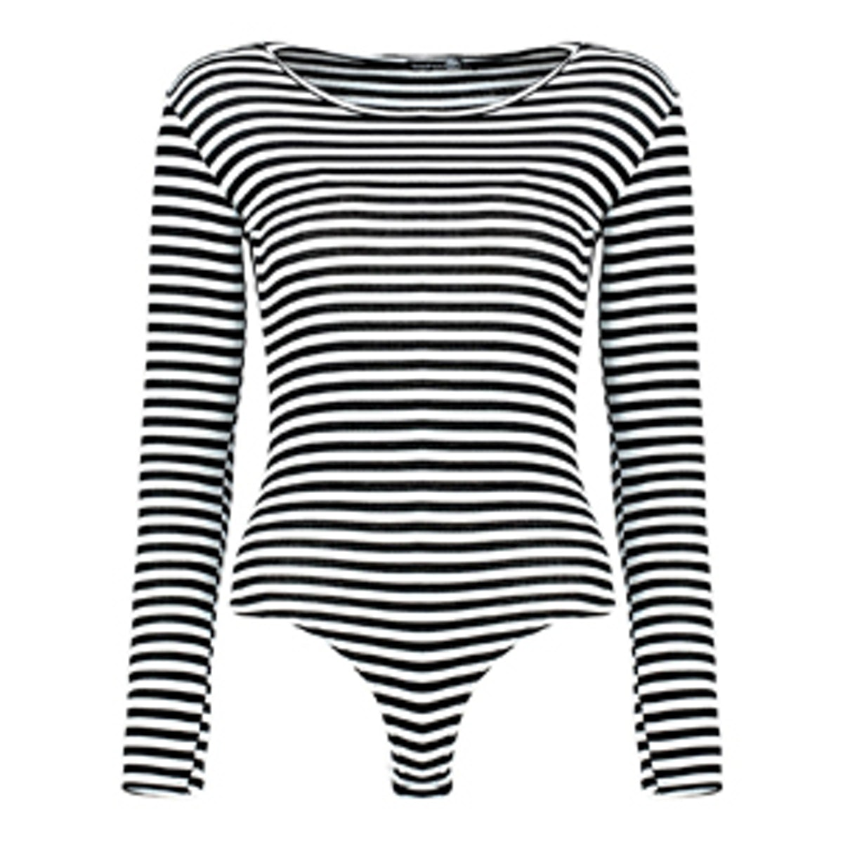 Rib Stripe Basic Bodysuit