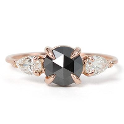 Rose Gold & Black Diamond Ring