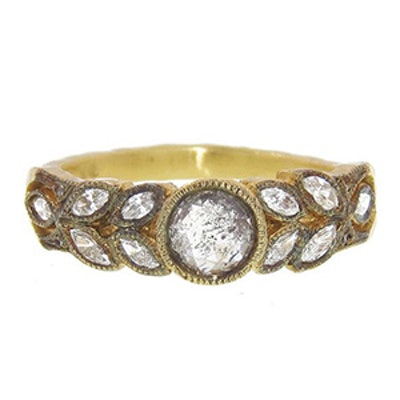 Yellow Gold & Rose Cut Diamond Ring