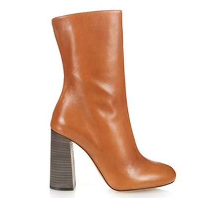 Leather Calf-Length Boots