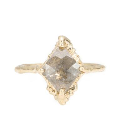 Yellow Gold Rustic Diamond Ring