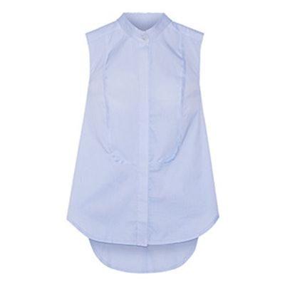 Cape-Back Cotton Poplin Shirt