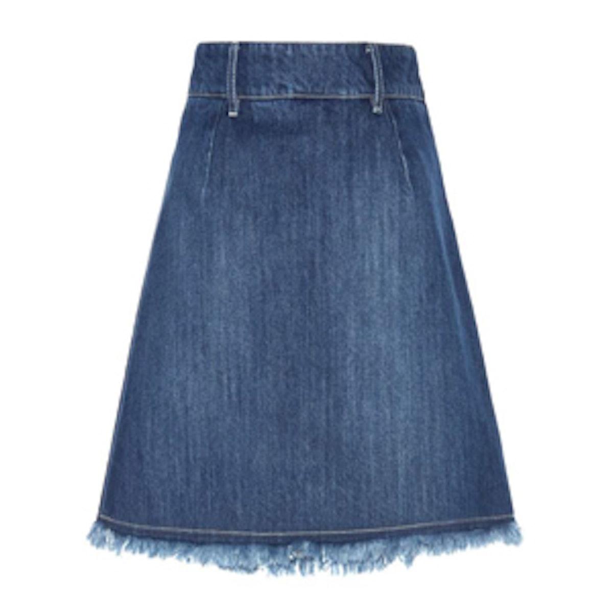 A-line Denim Miniskirt