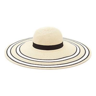 Stripe Trim Floppy Hat