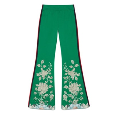 Technical Embroidered Pants