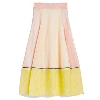 Honeycomb Knit Long Skirt
