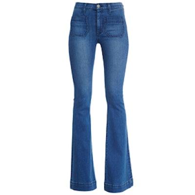 Taylor High-Waist Flare-Leg Jeans