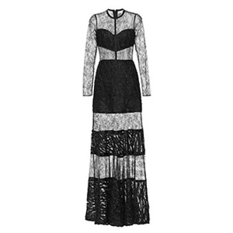 Joelle Embroidered Lace Inset Gown