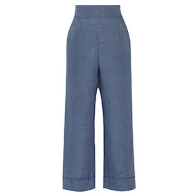 Seawind Cropped Linen Pants
