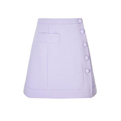 Crepe A-Line Mini Skirt