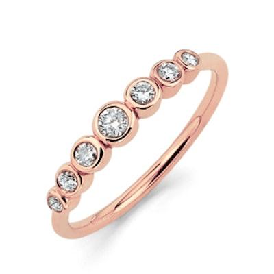 Rose Gold Diamond Orbit Ring