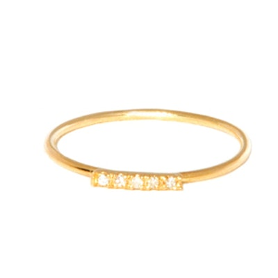 Yellow Gold Diamond Baby Band Ring
