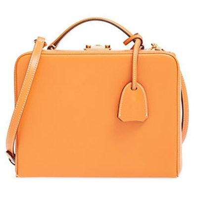 'Grace' Saffiano Leather & Rattan Box Trunk