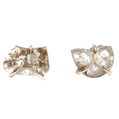 Diamond Slice Stud Earrings