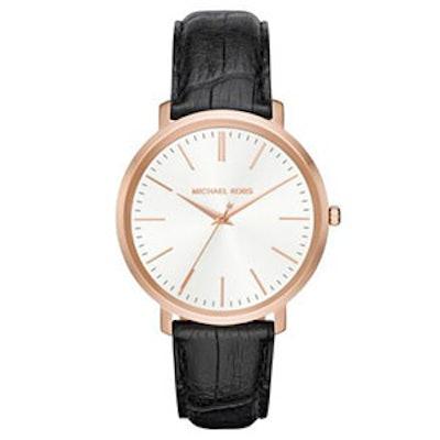 KJaryn Rose Gold Leather Watch