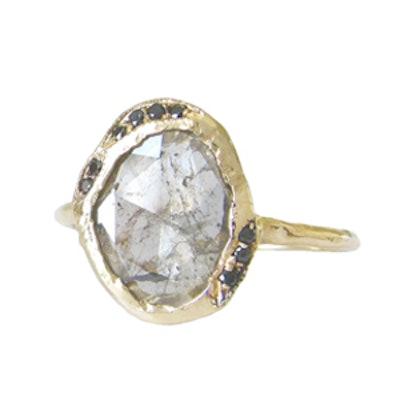Yellow Gold Diamond Slice Cove Ring