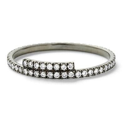 Oxidized White Gold & Diamond Ring