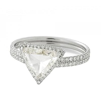 Platinum Rose Cut Diamond Ring