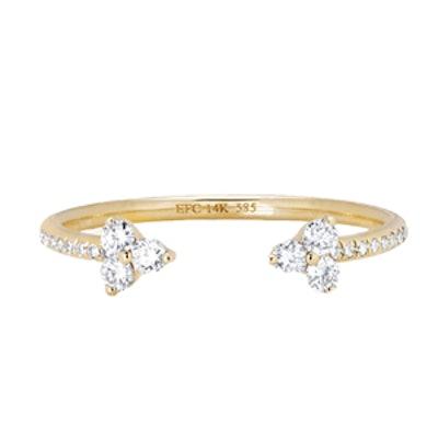 Yellow Gold Pavé Diamond Ring