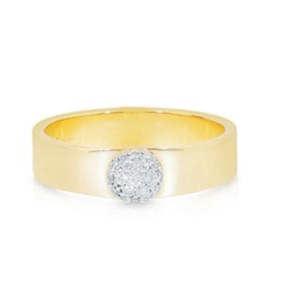 Yellow Gold Diamond Infinity Love Always Ring