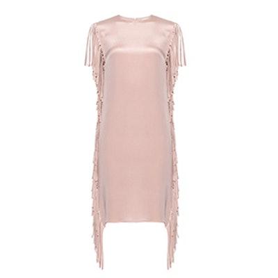 Fringed Silk Dress