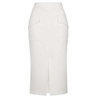 Pocket Split Midi Skirt