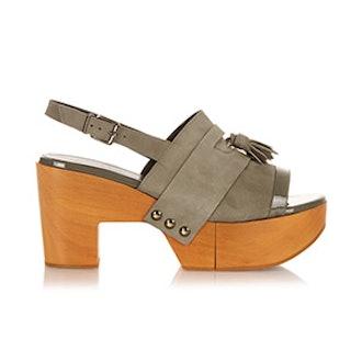 Clara Wooden-Platform Sandals