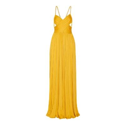Kim Plissé Silk-Blend Jersey Maxi Dress